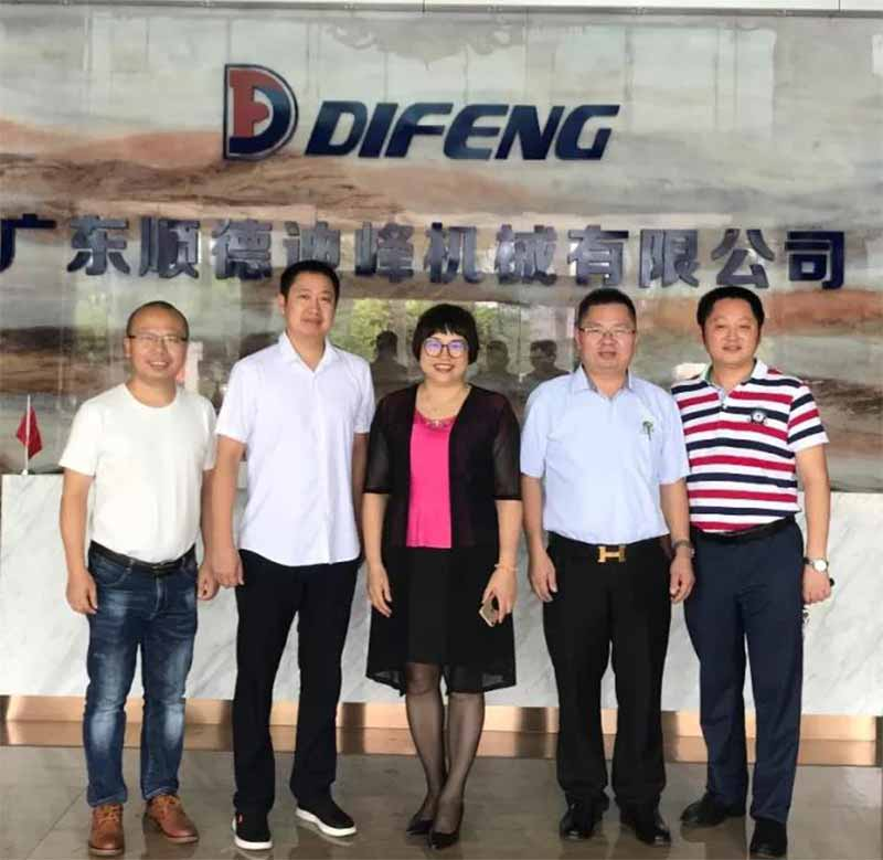 Leaders of Furniture Branch of Sichuan Chamber of Commerce of Guangdong Province visited Difeng Machinery for guidance