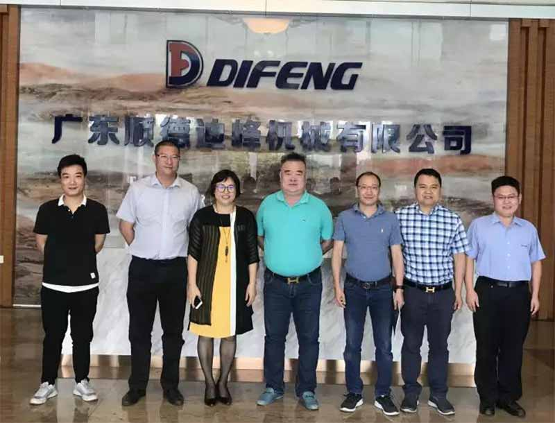 Leaders of Shunde Private Enterprise Development Chamber of Commerce visited Difeng Machinery for guidance