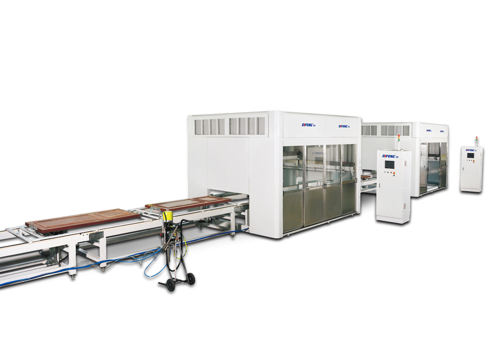 Wood doors automatic painting production line (PU color+paint finish)